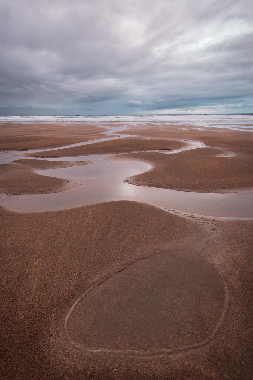 Tidal Pools at Sandymouth Beach, Cornwall  - Nikon D850, Nikkor 16-35 mm f/4 at 20 mm, 1.6 secs at ISO 64, f/11, Lee Filters ND Grad.