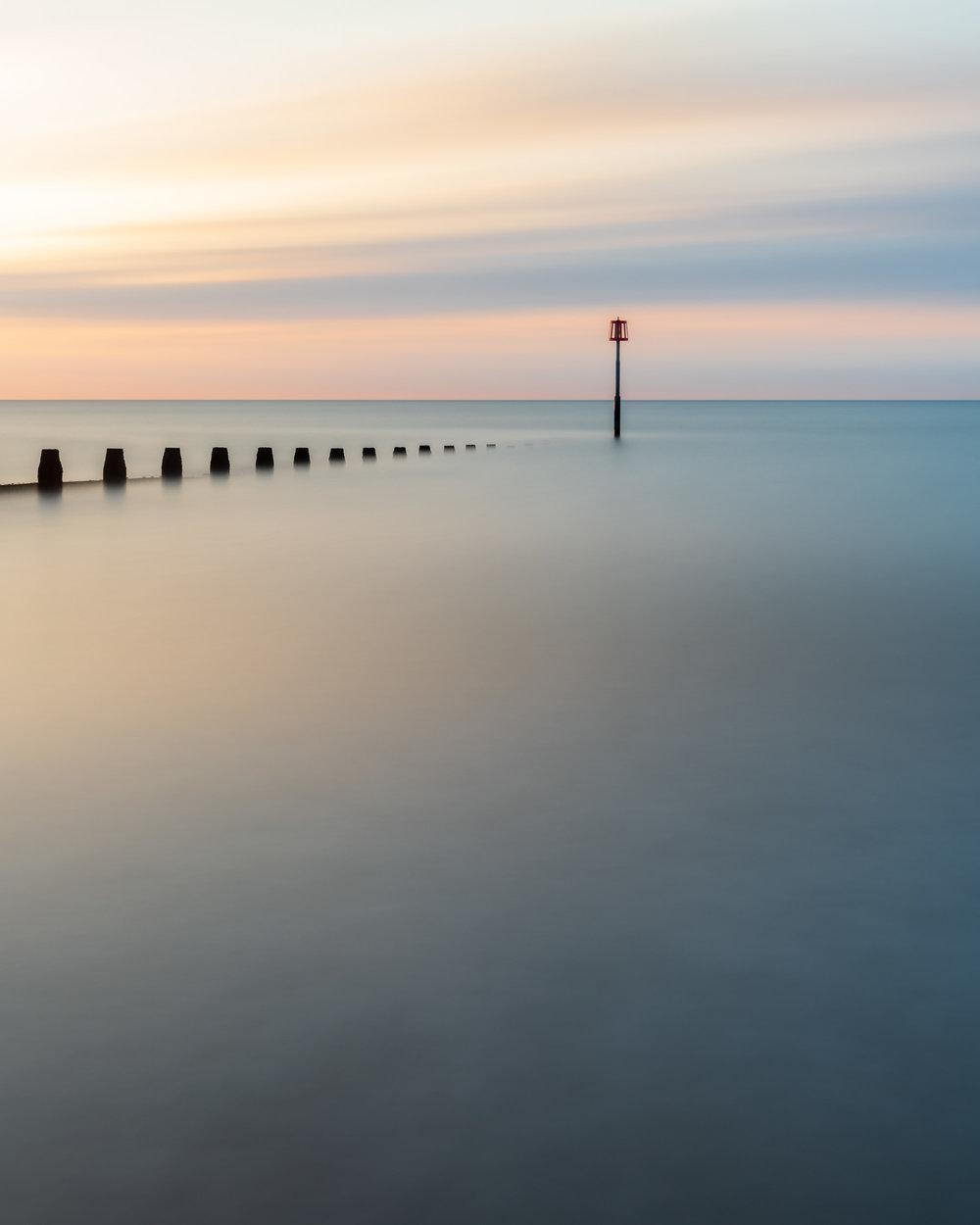 Into the Sea, Dawlish Warren, Devon  - Nikon D850, Nikkor 24-70 mm f/2.8 at 48 mm, 339 seconds at ISO 64, f/11. Lee Filters Circular Polariser and ND Grad,