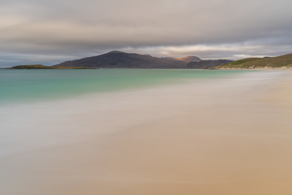 Traigh Mheilein, Isle of Harris  - Nikon D850, Nikkor 24-70 mm f/2.8 VR at 32 mm, f/13, 62 seconds at ISO 64, Lee Filters Circular Polariser, IRND and ND Grad.