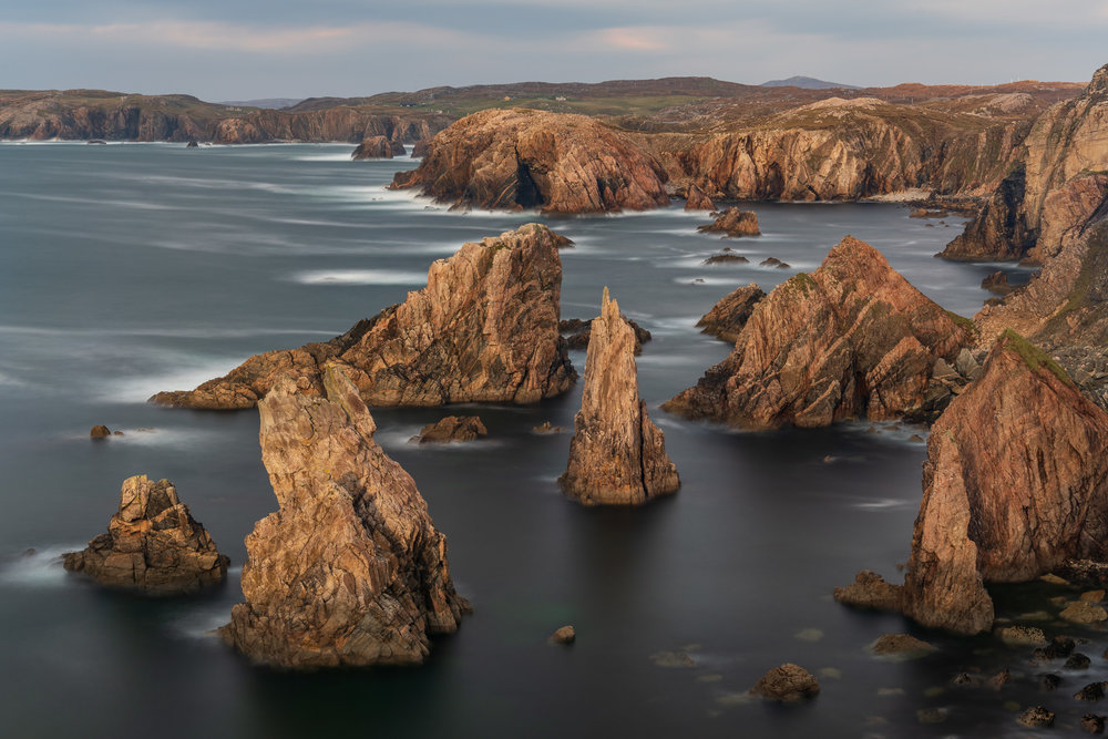 Mangurstadh Stacks, Isle of Lewis  - Nikon D850, Nikkor 24-70 mm f/2.8 VR at 52 mm, f/11, 119 seconds at ISO 64, Lee Filters Circular Polariser, IRND and ND Grad.