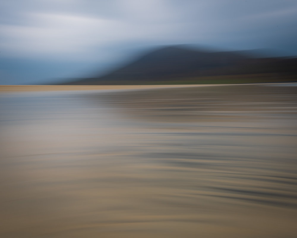 Tràigh Scarasta (ICM), Isle of Harris  - Nikon D850, Nikkor 16-35 mm f/4 at 24 mm, f/22, 1/4 second at ISO 64, Lee Filters Circular Polariser and ND Grad.