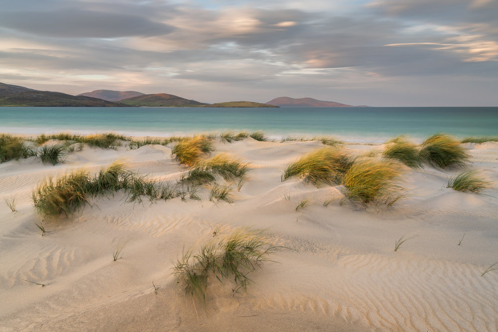 Sand, Wind and Time, Luskentyre, Isle of Harris  - Nikon D850, Nikkor 16-35 mm f/4 at 25 mm, f/13, 25 seconds at ISO 64, Lee Filters Circular Polariser, ND and ND Grad.