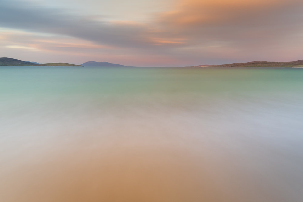 The Pastel Shades of Luskentyre, Luskentyre, Isle of Harris  - Nikon D850, Nikkor 16-35 mm f/4 at 18 mm, f/13, 144 seconds at ISO 400, Lee Filters Circular Polariser, ND and ND Grad.
