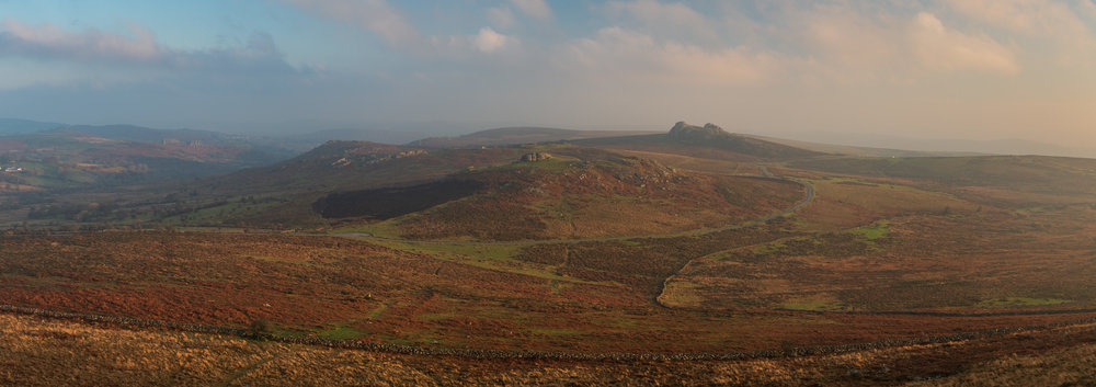 The View from Rippon Tor (Panorama), Dartmoor, Devon