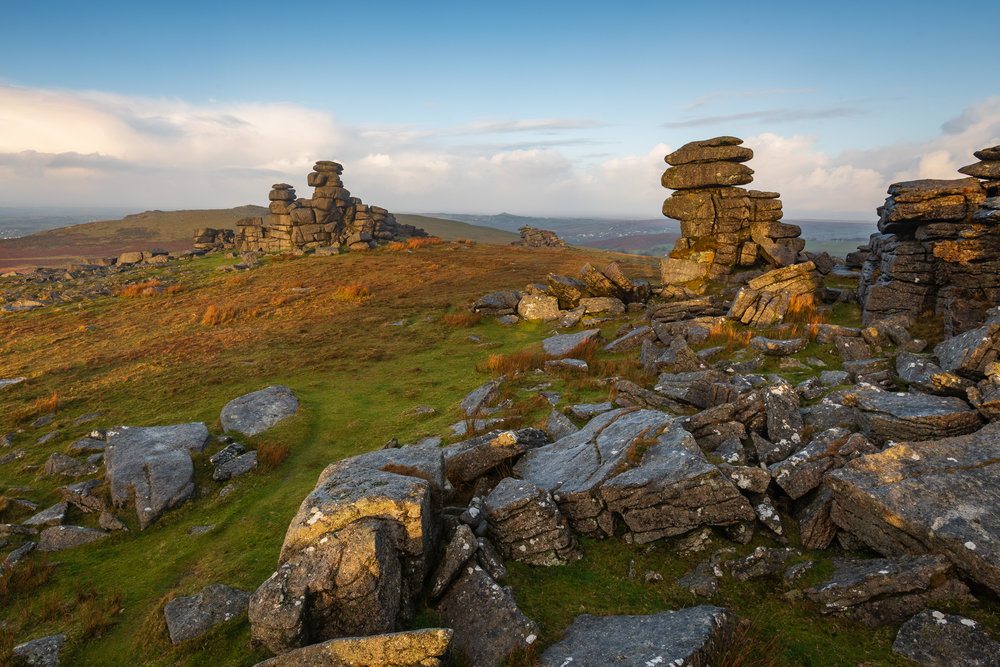 Dawn at Great Staple Tor, Dartmoor, Devon