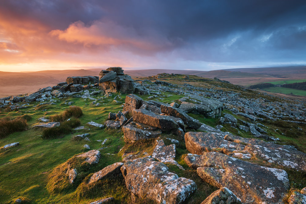 Dawn at Belstone Tor, Dartmoor, Devon