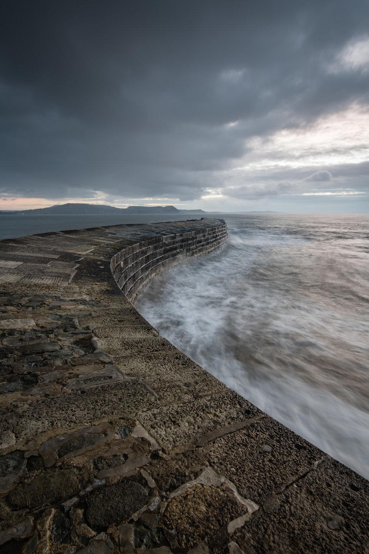 A Grey Dawn over The Cobb, Lyme Regis, Dorset