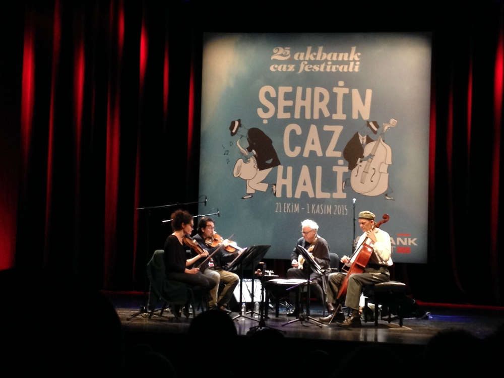 Bill Frisell and The 858 Quartet with Jenny Scheinman, Eyvind Kang and Hank Roberts at The Zorlu Center for Performing Arts in                Istanbul, Turkey