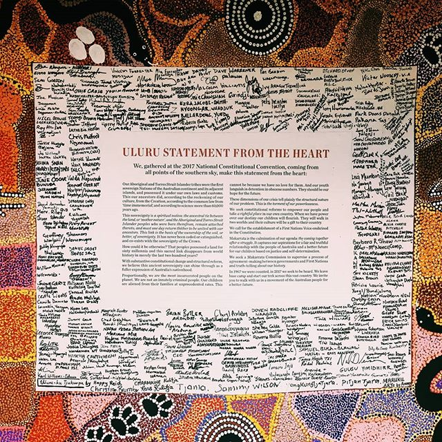 I was humbled to be able to read and sign my name in support of the Uluru Statement at @woodfordfolkfestival - an incredibly significant document that has been disgracefully swept under the carpet. So many of us in this country have so much to learn and we should do so actively, seeking out this learning instead of waiting for it to come to us when so often it will be manipulated in to never arriving. Start by looking up what this document is saying and why.