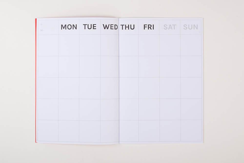 big timeless monthly planner harrow green