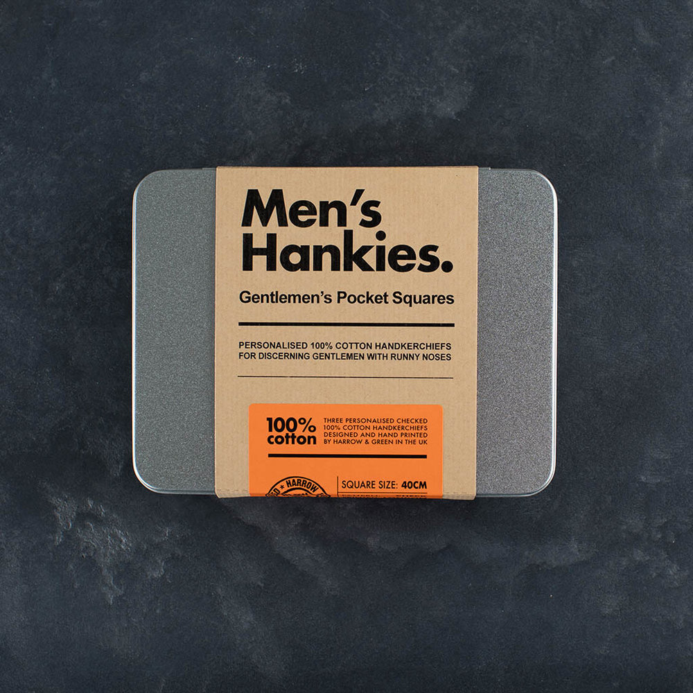 Personalised Handkerchief Set - Mens Set of Three