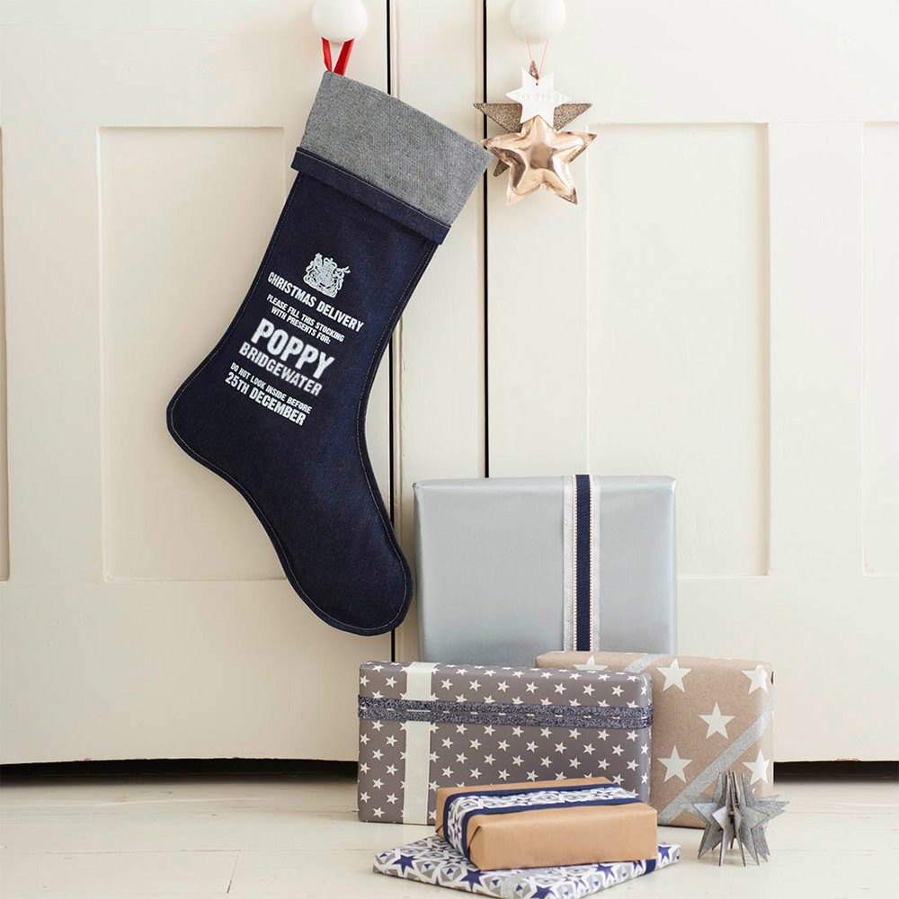 Personalised Denim Stocking