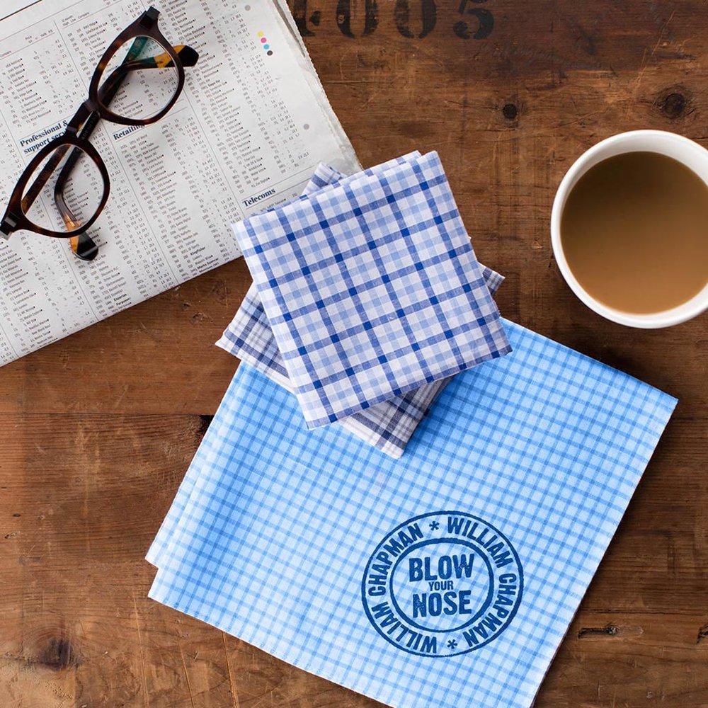 Personalised Men's Handkerchief Set