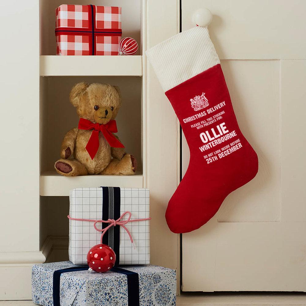 Personalised Corduroy Christmas Stocking