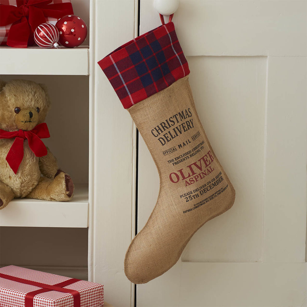 Personalised Piccadilly Christmas Stocking