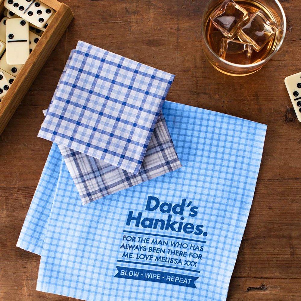 Personalised Dad's Message Handkerchiefs