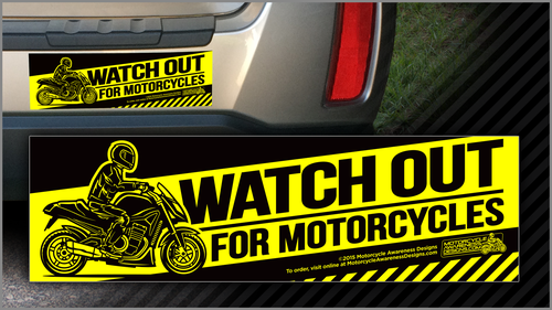 MAD BUMPER STICKER X Motorcycle Awareness Designs - Custom motorcycle bumper stickers awareness