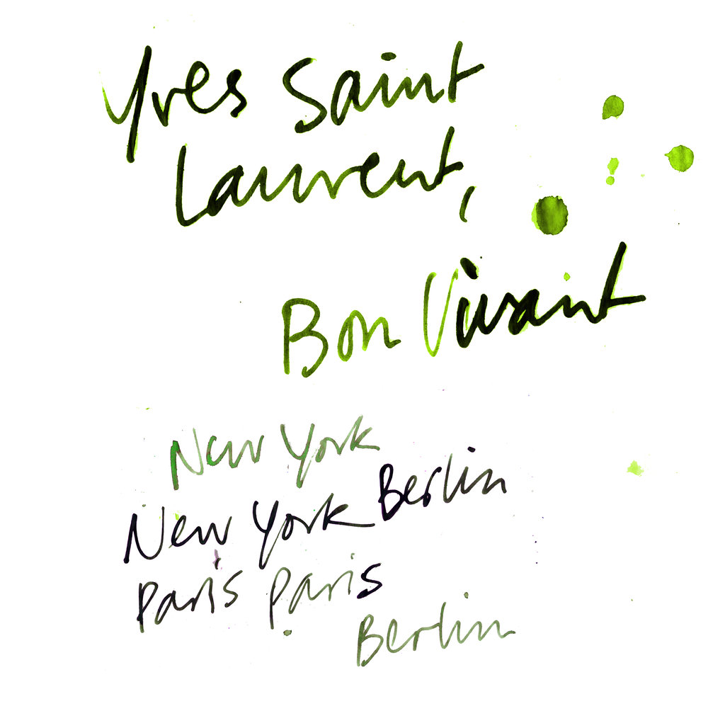 Yves Saint Laurent illustration handwriting