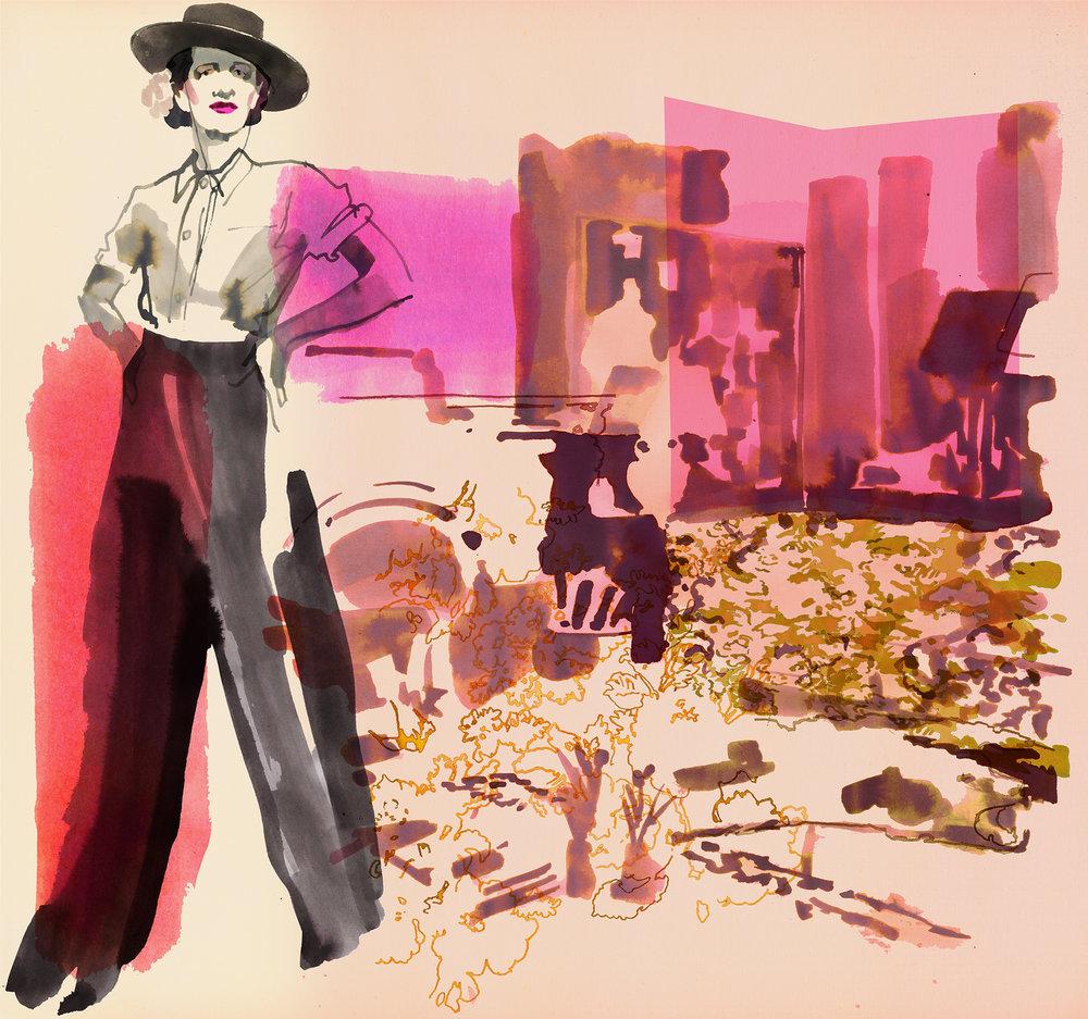 Diana Vreeland portrait Illustration Upstate Diary