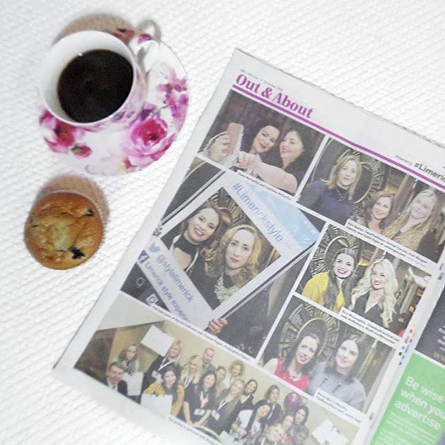 Spotted on @bigbrowsmessyhair insta feed!! Here we are in the @limerickpost paper at the #LimerickStyle event last week! 💗💕💗