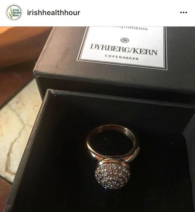 Ooooh we see @irishhealthhour for her @dyrbergkern_official specially fitted ring from @kilkennyshop @rogue_agencies that we received at ye Galway Fashion Trail event!!! 💍 bloggers! Tag us in your photos!! Show us your @dyrbergkern_official ring too!!! #itwbn #irishbloggers