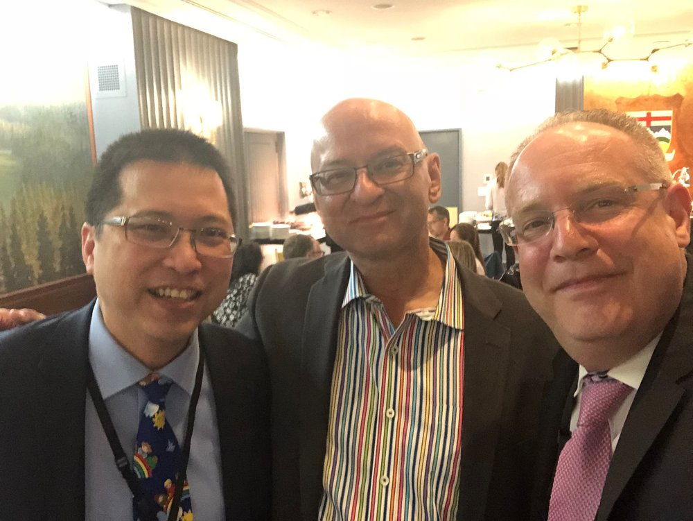 Dr. Kevin Chan, Dr. Michael Rieder and Dr. Ronni Cohn enjoy the PCC Canadian Reception at the PAS Conference in Toronto.