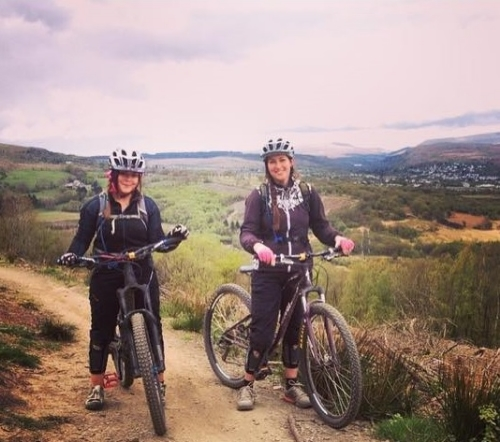 Rachel and Catherine at Afan