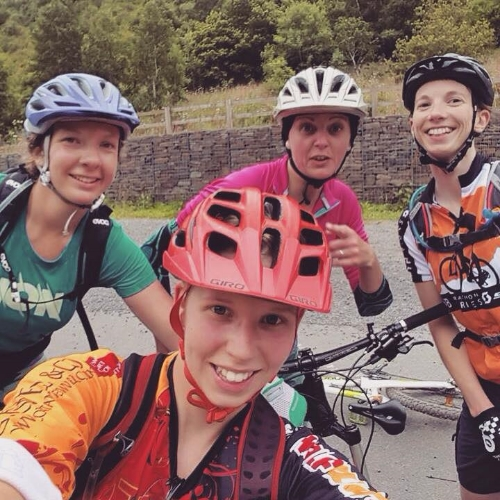The ladies out for an Afan ride