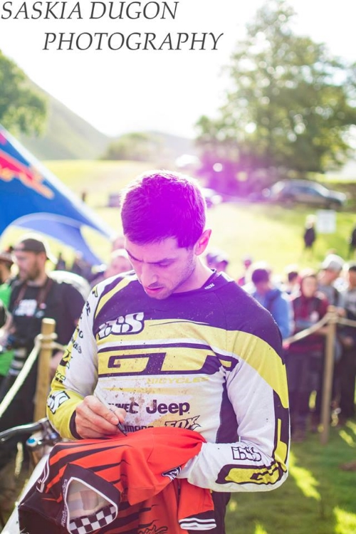 Gee Atherton, fastest in qualifiers on Saturday