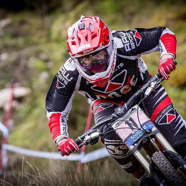 Katy looking focused at Fort William 2015