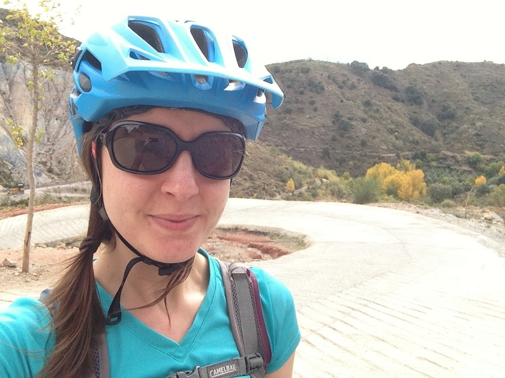 Cheeky pre-descent selfie