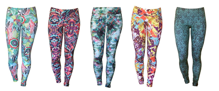 A tempting selection of leggings from the 2016 line.