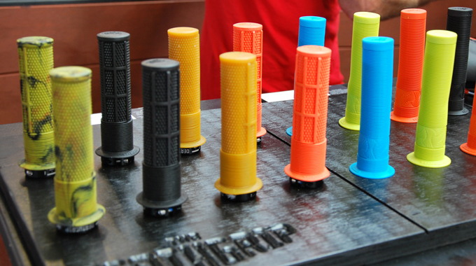 DMR's selection of grips, in all their colourful glory