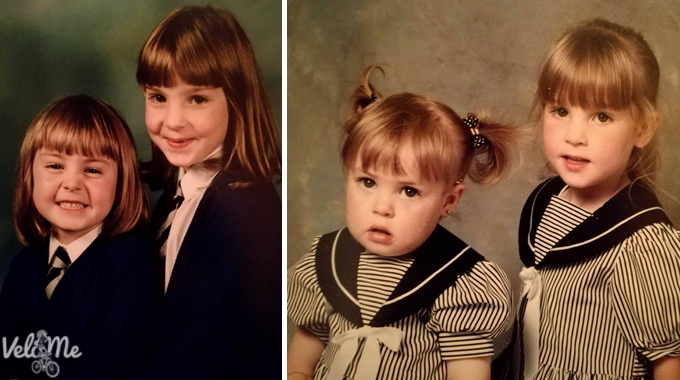 Yes, I'm the little chubby one - but I did grow into my cheeks!