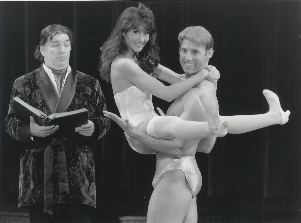 David Regal, Janet Caine and Jeff Applegate in The Rocky Horror Show 1998-1999