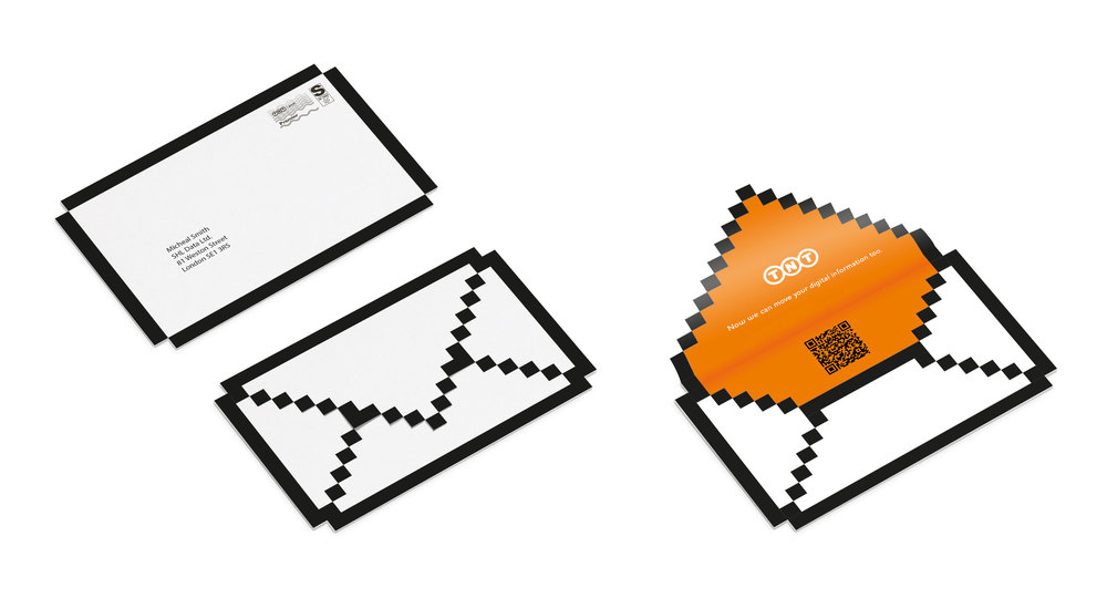 Direct Mail. Concept. Visualisation. Copy.    This piece of direct mail literally placed TNT's new digital service into the hands of their target audience.   Commissioned at Key Parker.  keyparker.co.uk