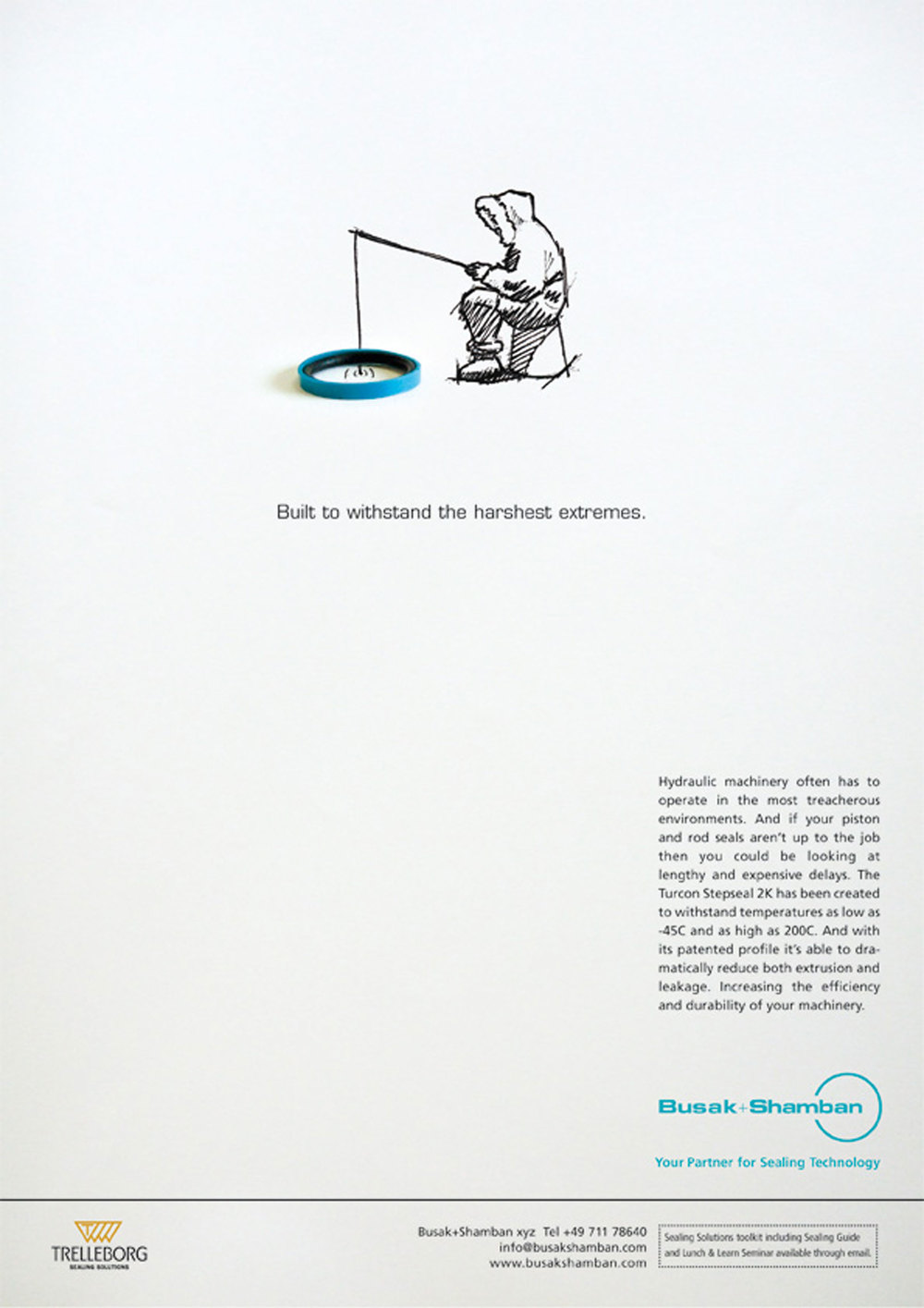 Press advertising. Concept. Art Direction. Design. Illustration.    This innovative and clever campaign, helped our client sell their seals, highlighting their benefits with charming illustrations and pithy headlines.   Commissioned at Connect.  connect-group.com