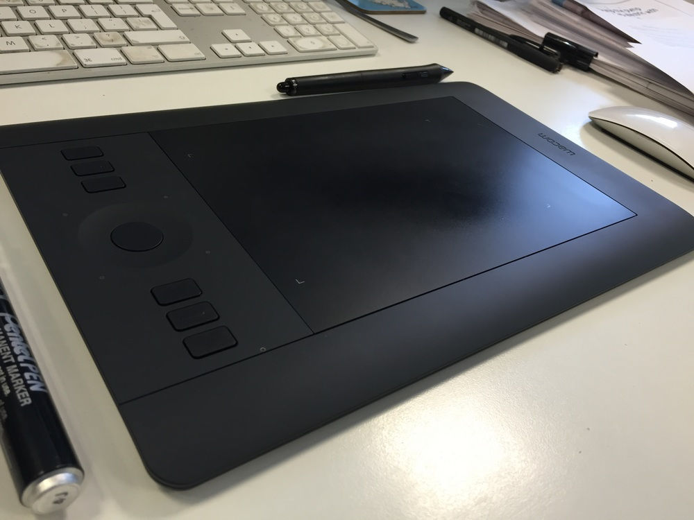 Weapon of choice - Intuos Pro.