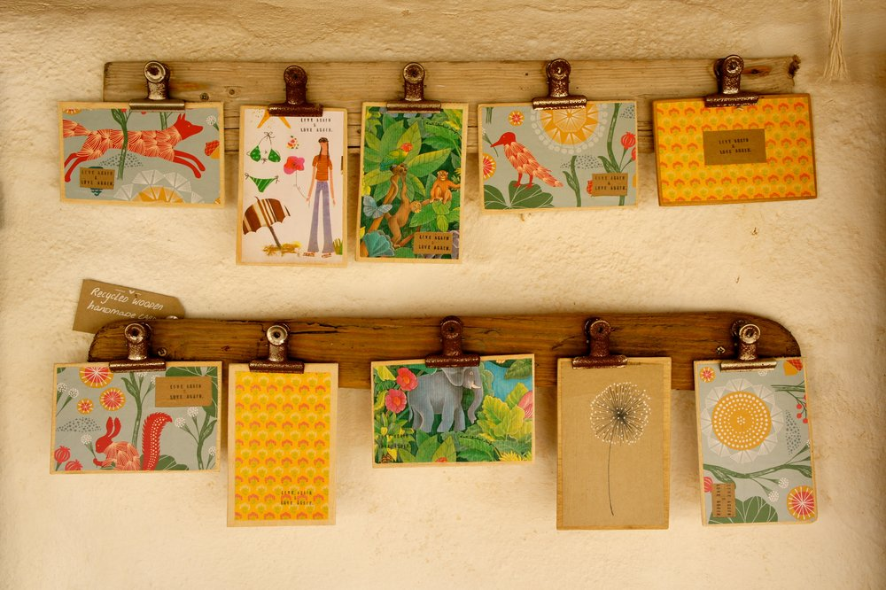 Handmade wooden cards