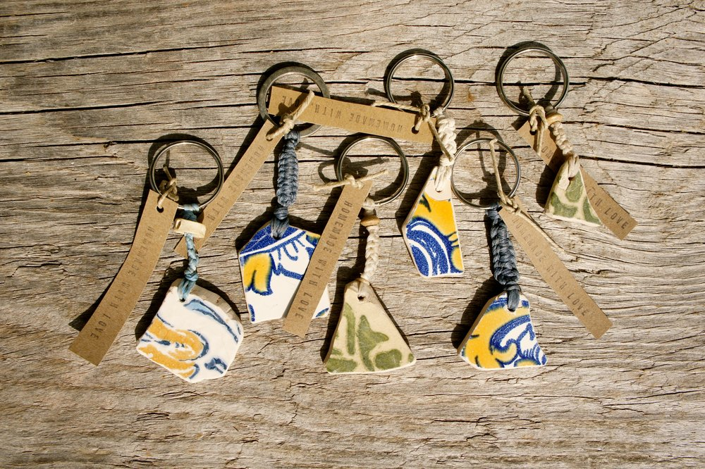 Traditional Portugese tile keyring