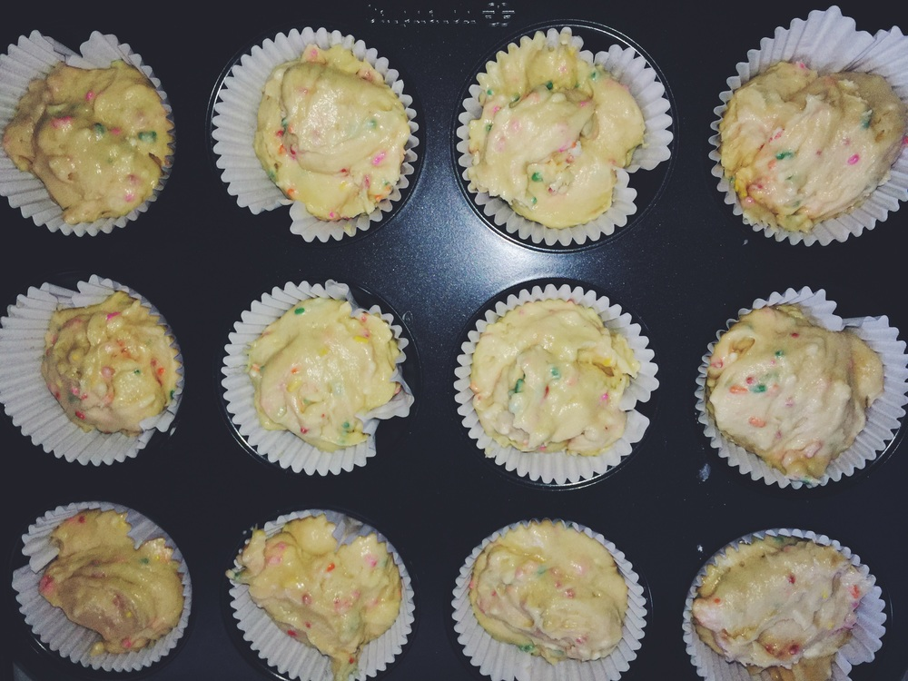pre-baked funfetti cupcakes