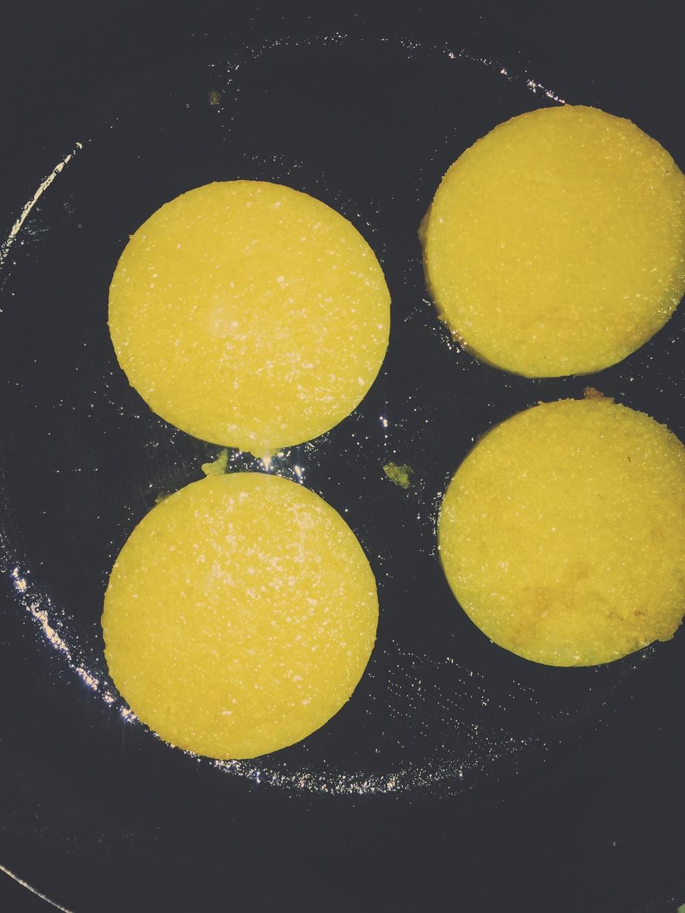 frying polenta