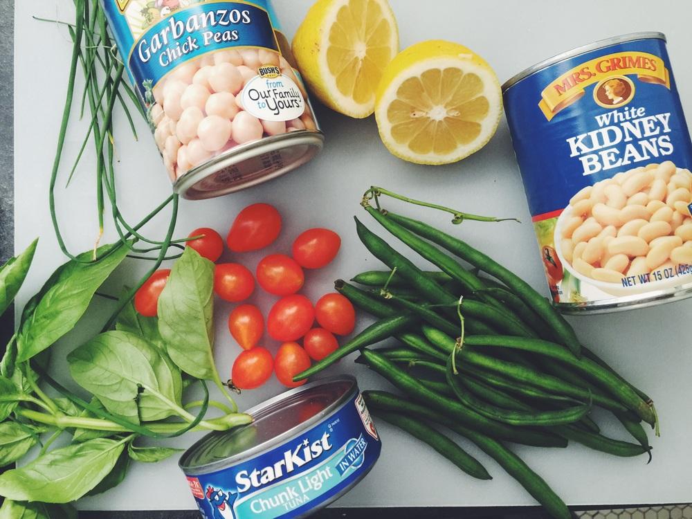 tuna bean salad ingredients