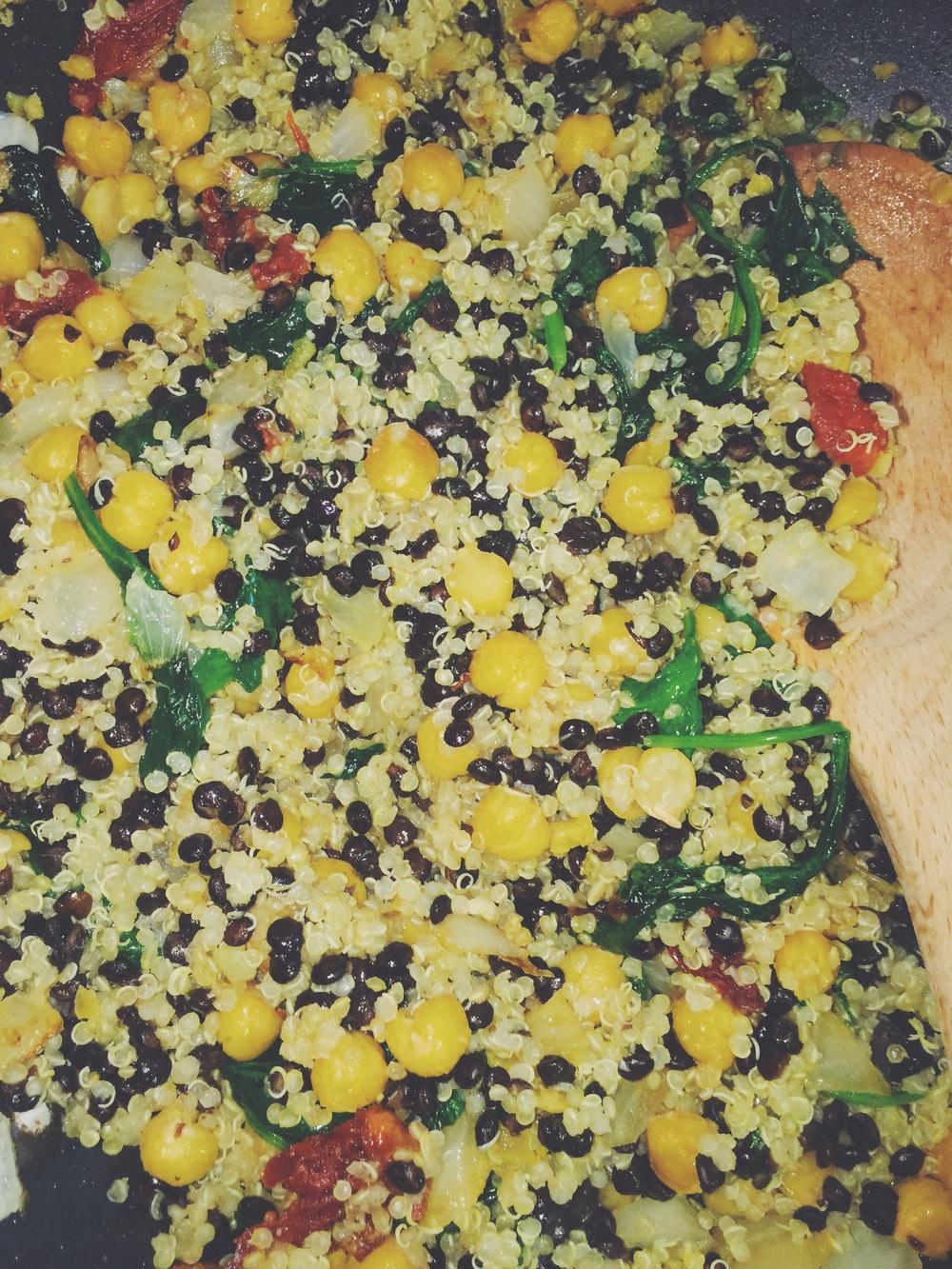 quinoa-lentil mix