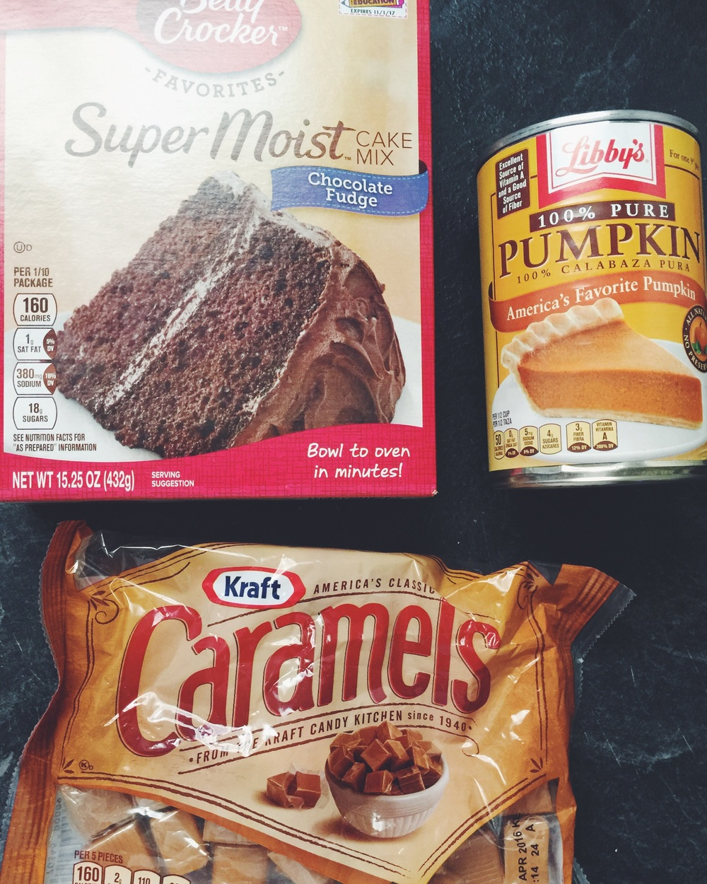chocolate-pumpkin cupcake ingredients