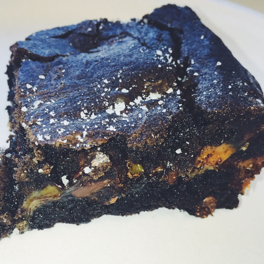 sea salt caramel dark chocolate brownies