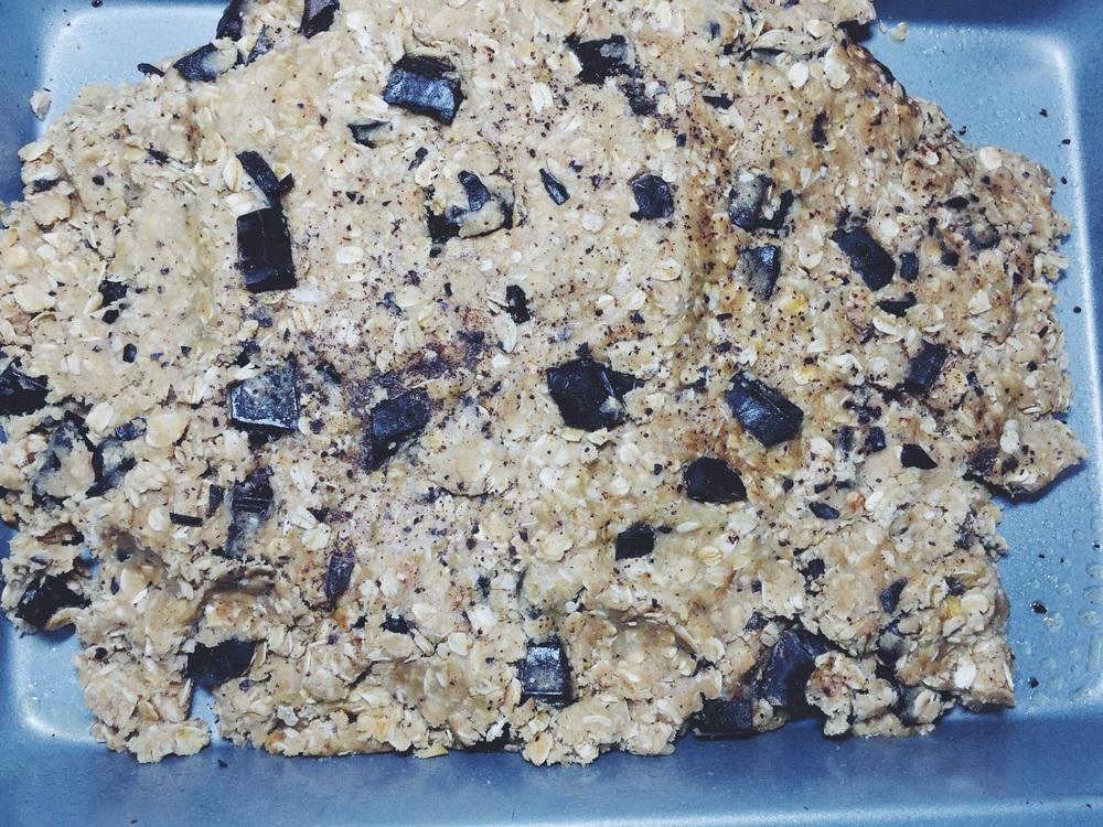 cookie bars pre-bake