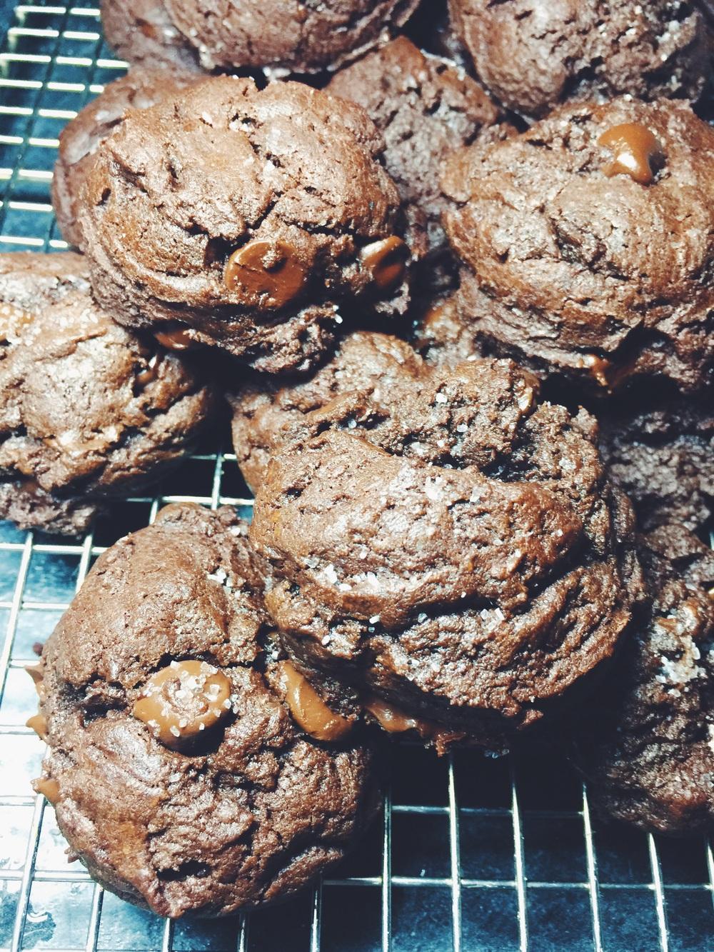 sea salted brownie cookies