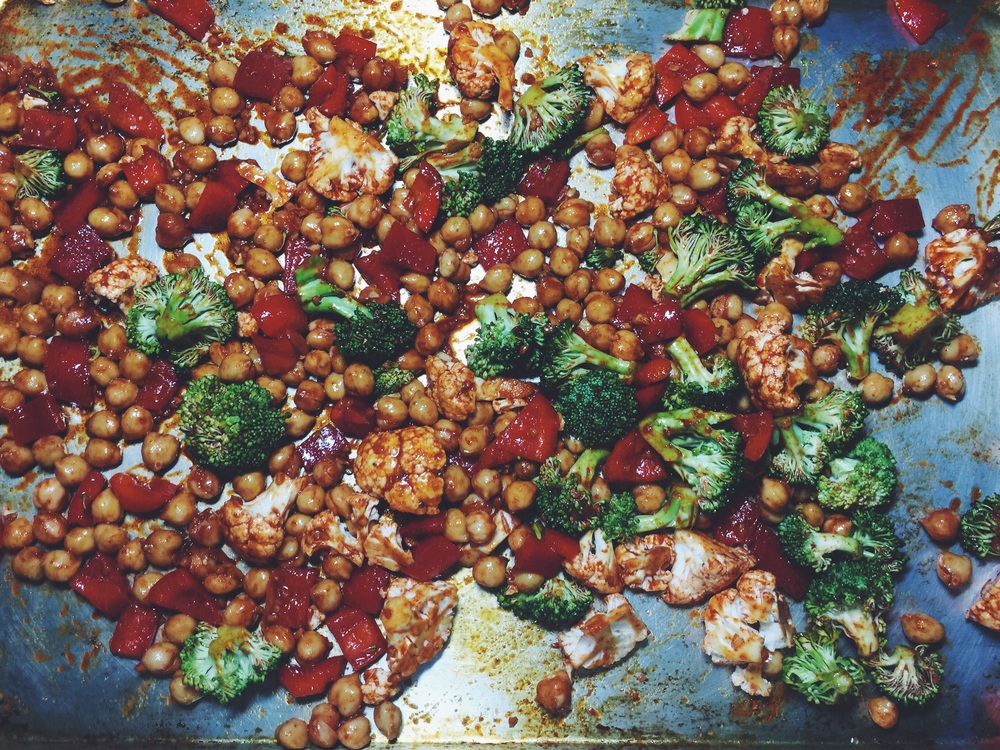 veggies on sheet pan