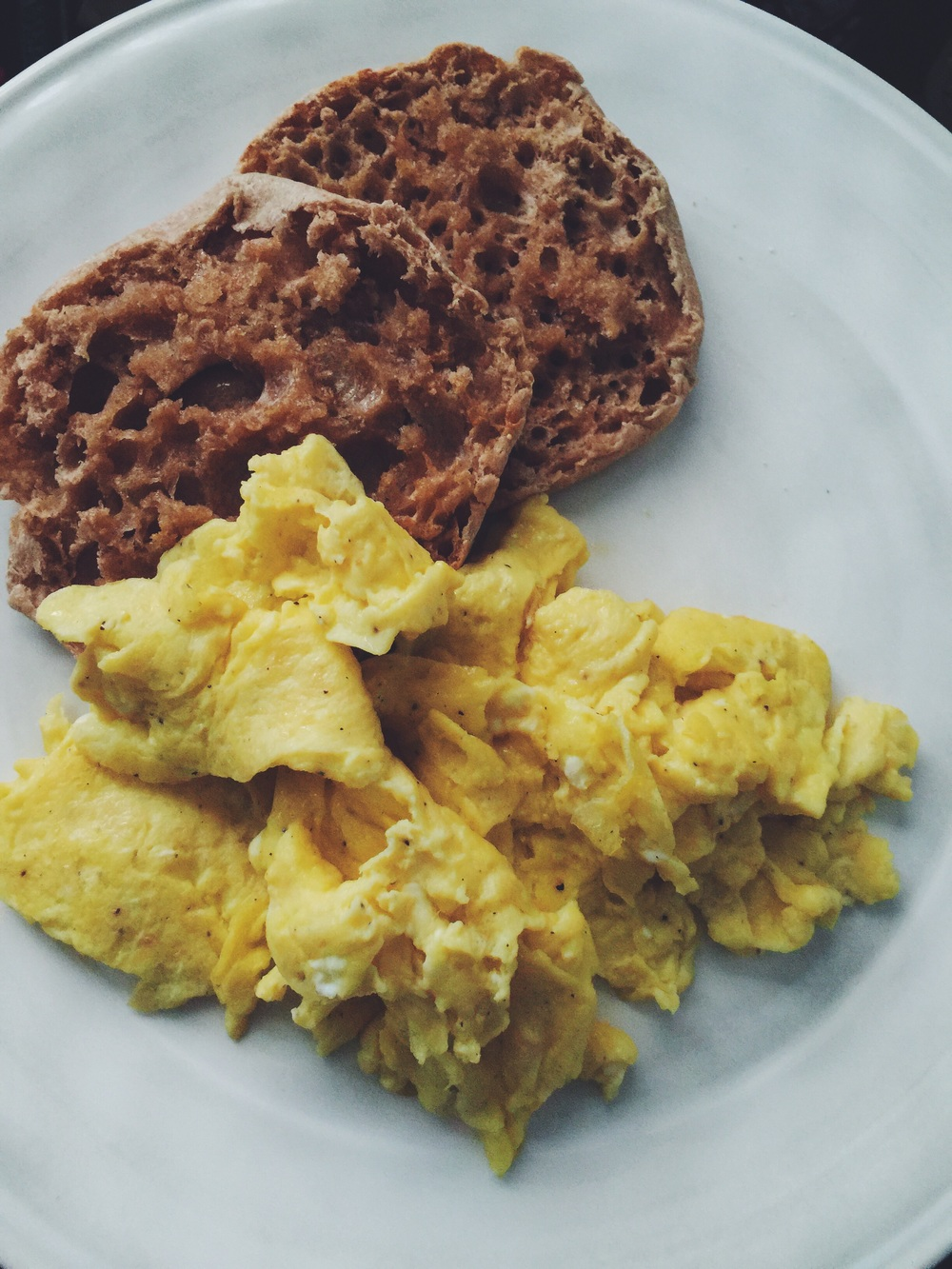 the fluffiest scrambled eggs ever